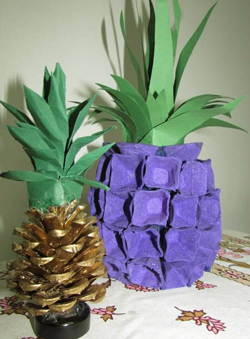 Fake Pineapple From Egg Tray