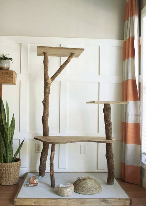 DIY Cat Tree Play Tower