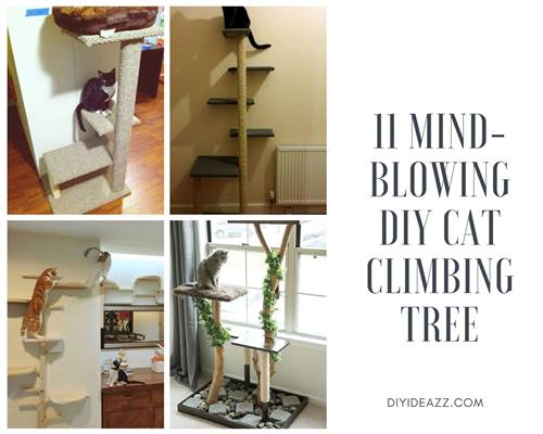 11 Mind-Blowing DIY Cat Climbing Tree