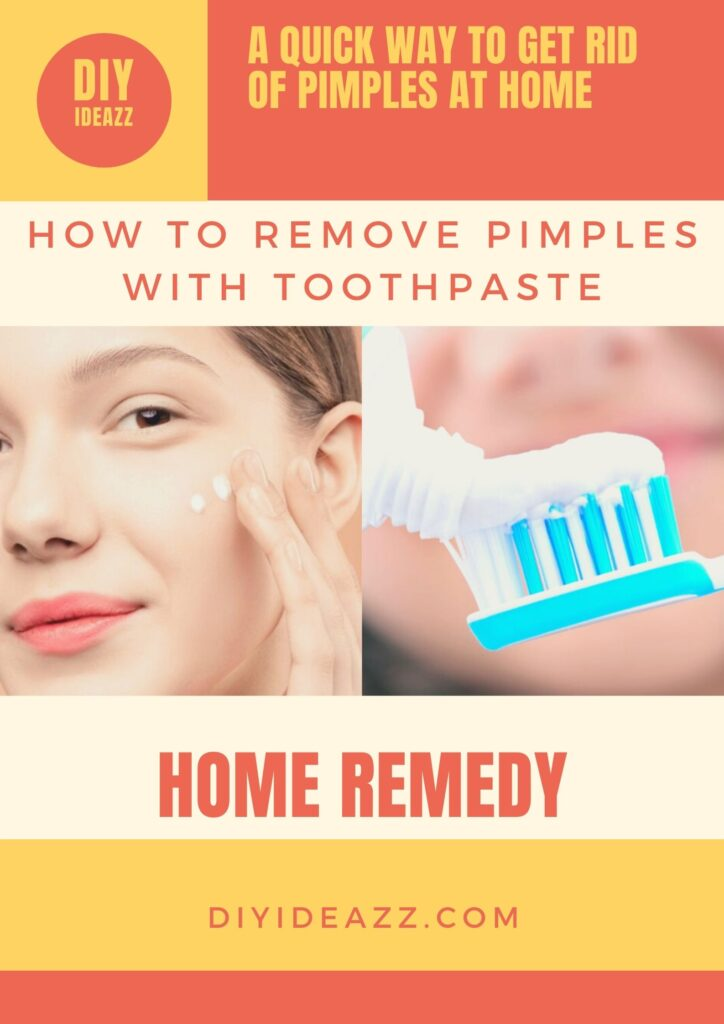 How To Remove Pimples With Toothpaste