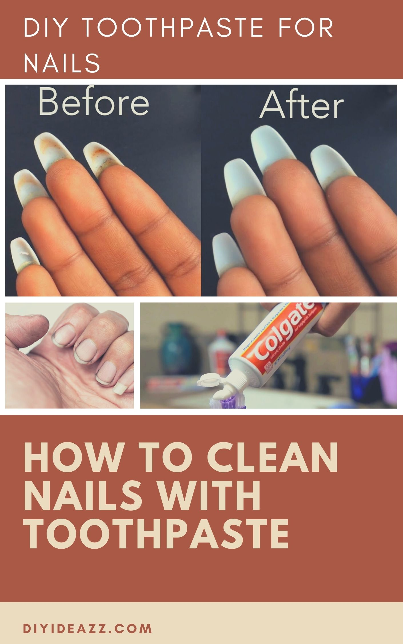 How To Clean Nails With Toothpaste   DIY Toothpaste for nails