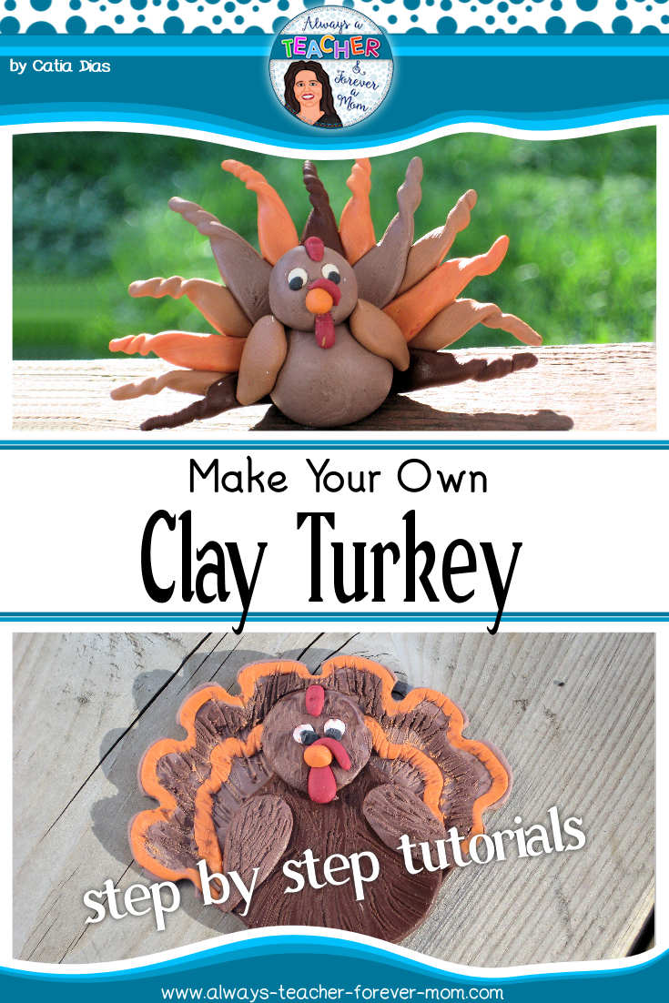 Make your own clay turkey for the holidays. This cute craft is also ideal for little hands to master.