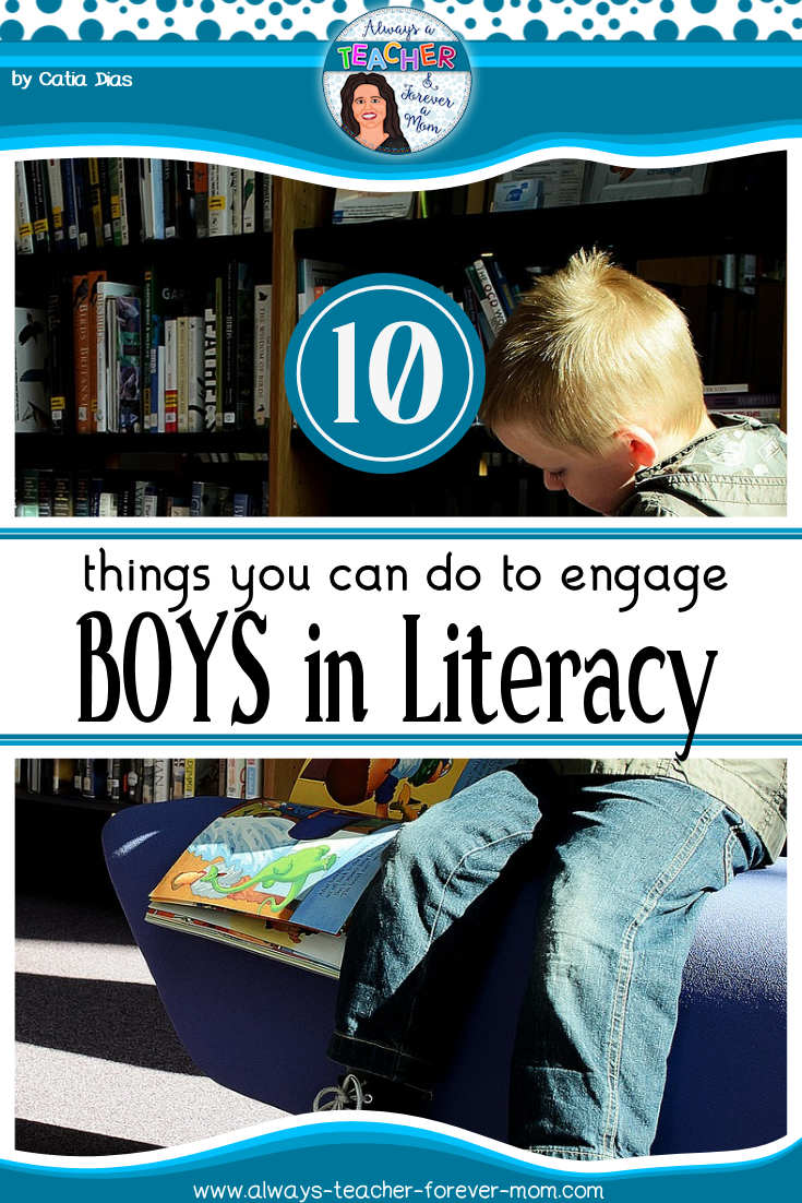 Making literacy fun and engaging is not always an easy thing, especially when it comes to boys. This blog post shares 10 ideas that teachers can implement to improve boys engagement in literacy.