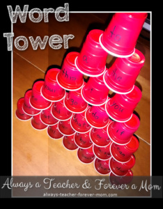 Word Tower – A Simple Literacy Game