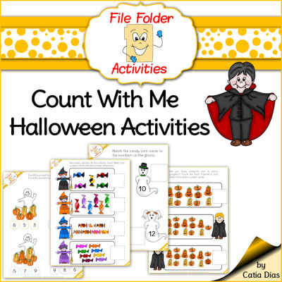 Count with me Halloween File Folder Activities