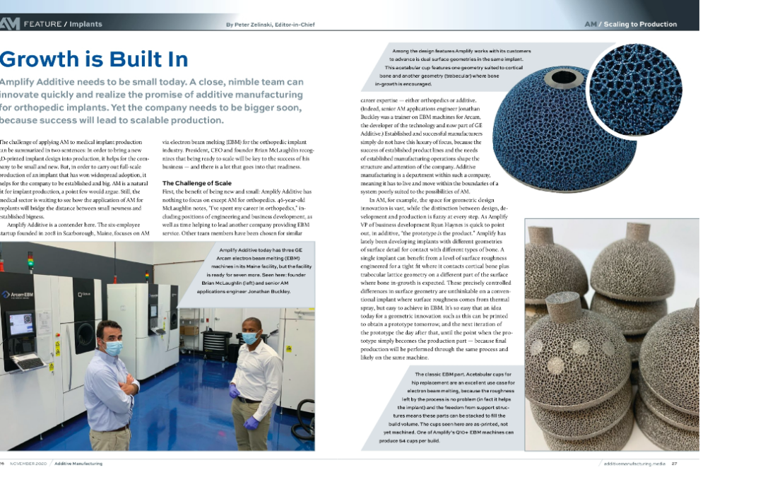 """Growth is Built-In"" Feature in Additive Manufacturing Media"