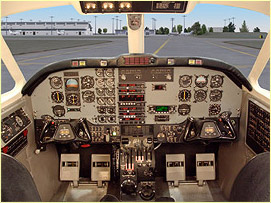 king air FTD simulator training