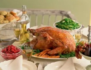 lower calorie thanksgiving meal