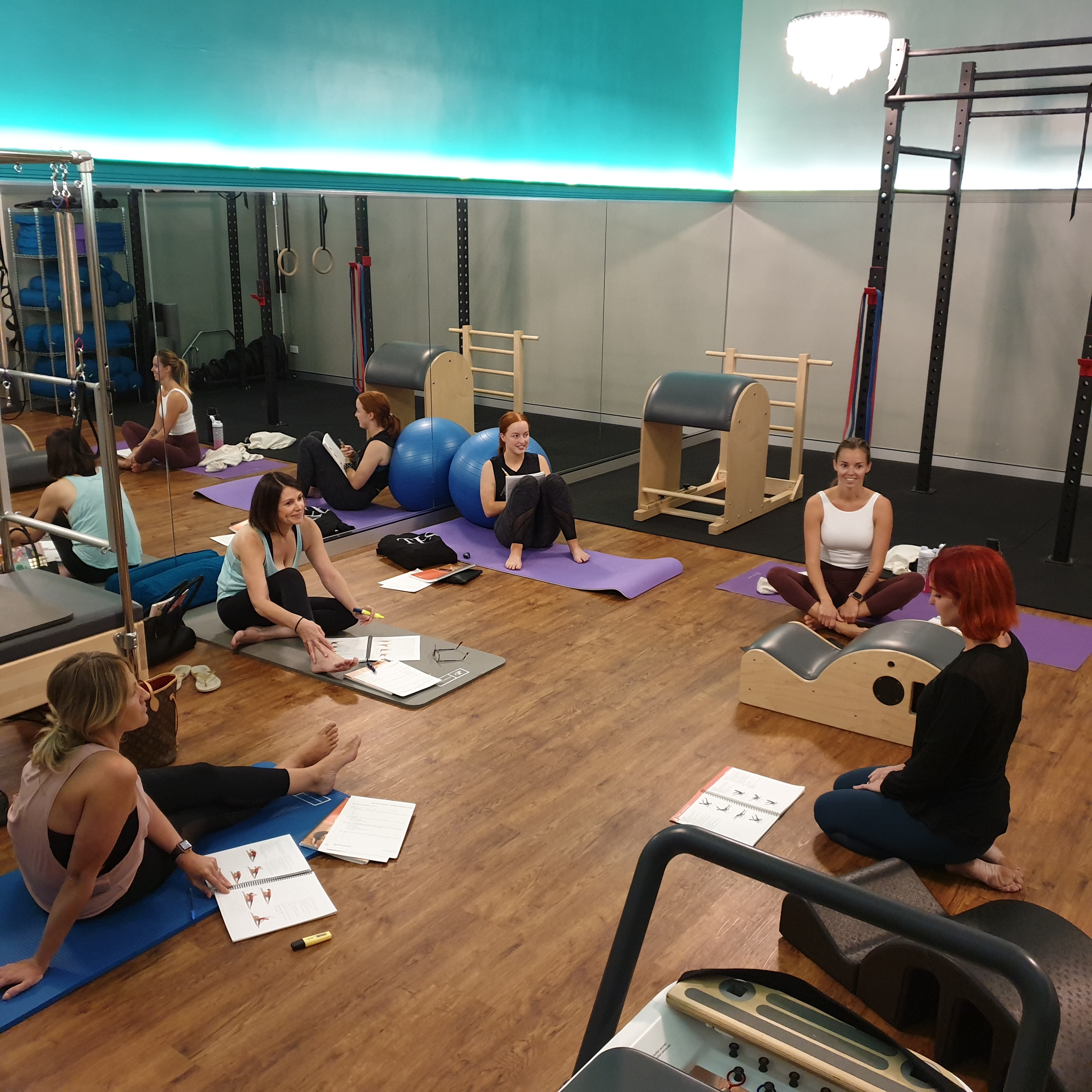 Image of our pilates certification class in Perth