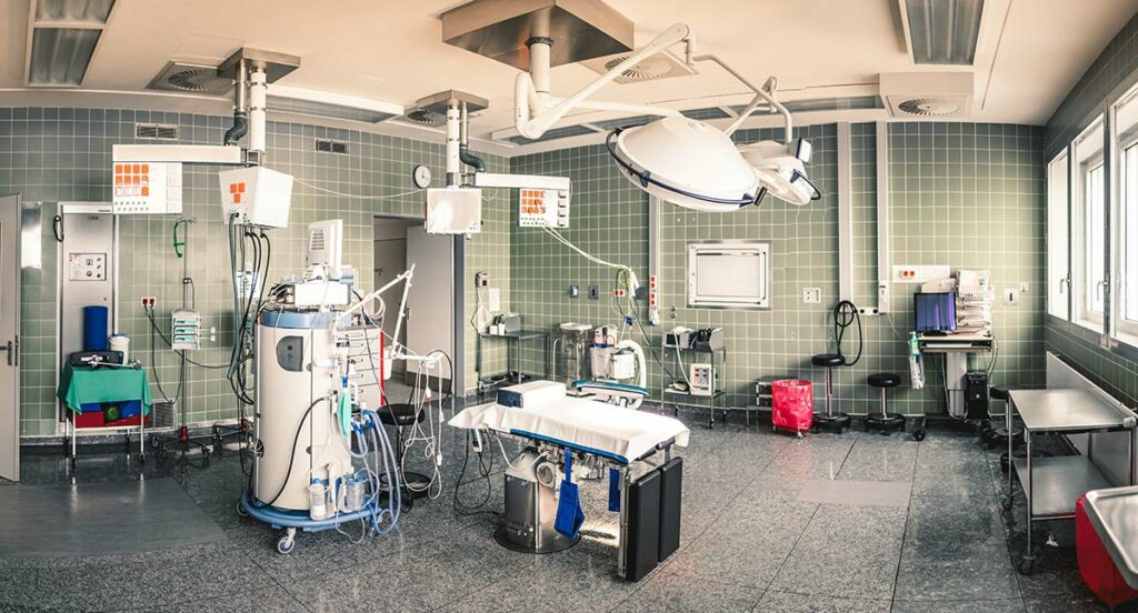 Empty operating room.