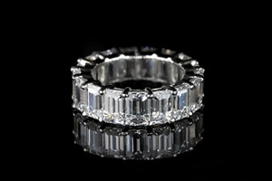 Eternity Ring, Emerald Cut