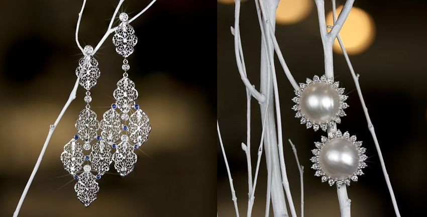 Diamond/Sapphire Earrings_Pearl Earrings