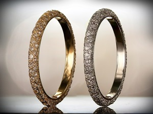 Pave Style Wedding Bands