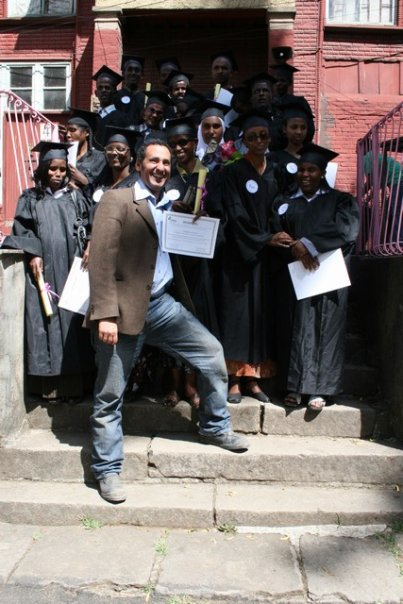 Carlo attending the graduation of a class of entrepreneurs from our Addis Ababa school for the visually impaired