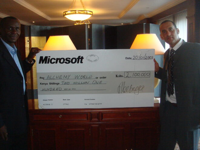 Donation from Microsoft for Alchemy World