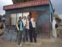 Carlo attending the launch of the first internet cafe in Northern Ethiopia