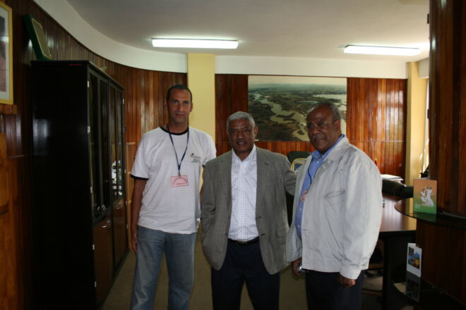 Carlo Tortora-Brayda meeting with the Governor of the Main Ethiopian State