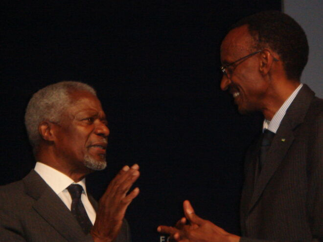 Meeting with Kofi Annan and Paul Kagame