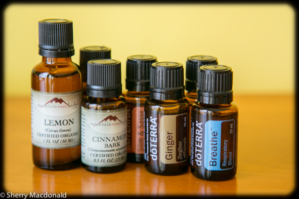 bottles essential oils