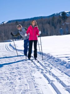 Cross Country Skiing with Friends