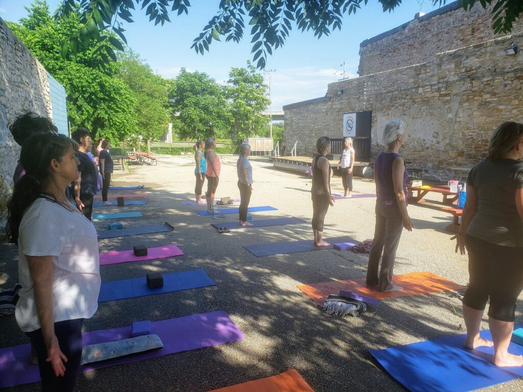 Outdoor Yoga at Compass Point