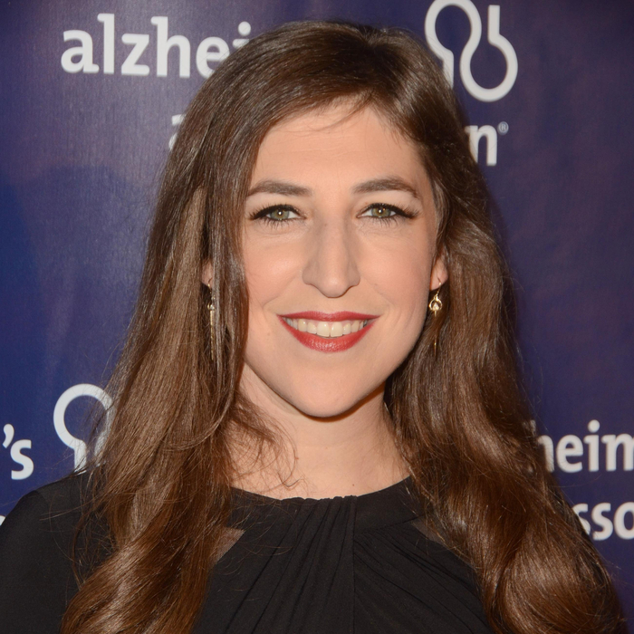 Mayim Bialik in a modest outfit