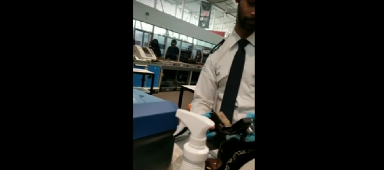 Security agent opens tefillin at Pearson airport