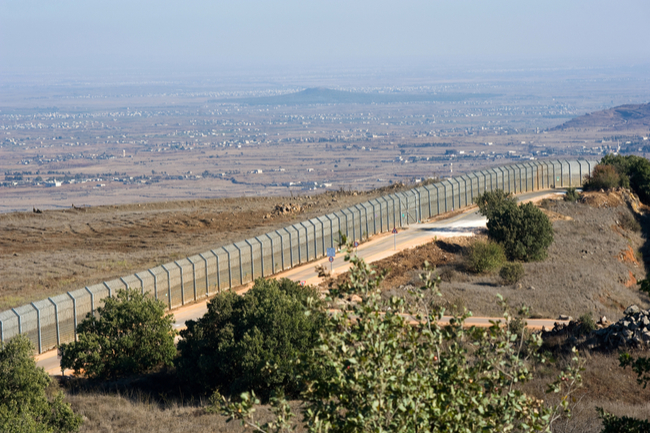 Border fence between Syria and Israel