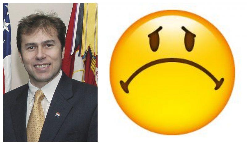 Luis Alberto Castiglioni and frown emoji
