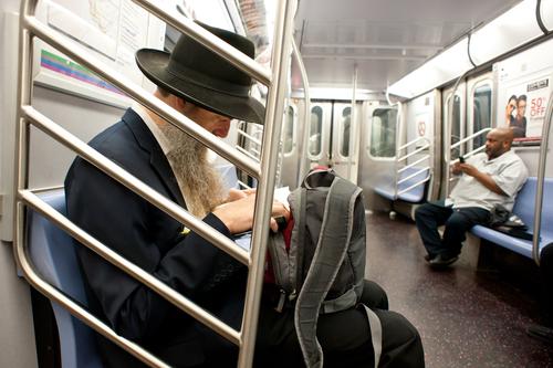 Jew studies on subway