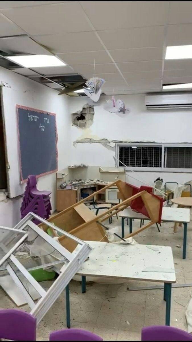 Sderot Kindergarten Operation Enduring Silence May 2019 Direct Hit