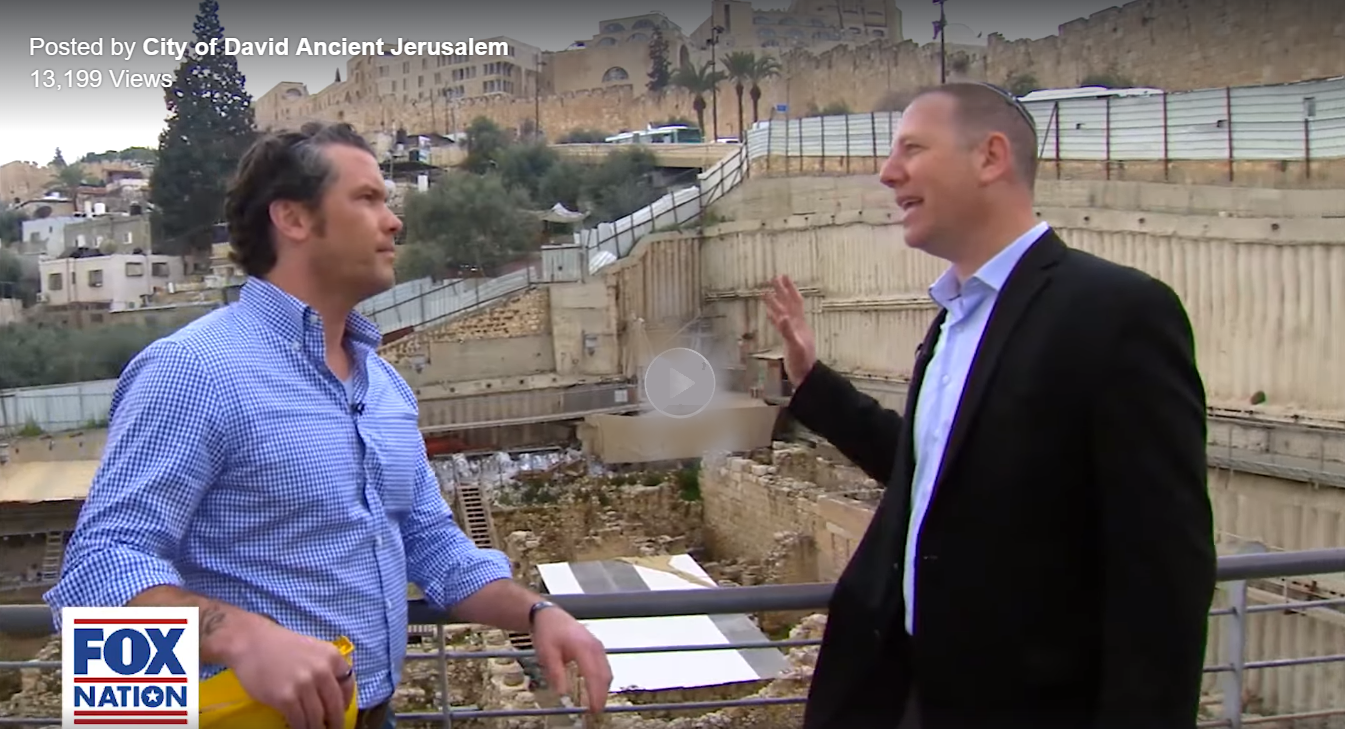 Pete Hegseth Ir David (City of David, Jerusalem)
