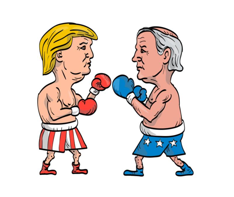 biden trump boxing match symbolizes first debate