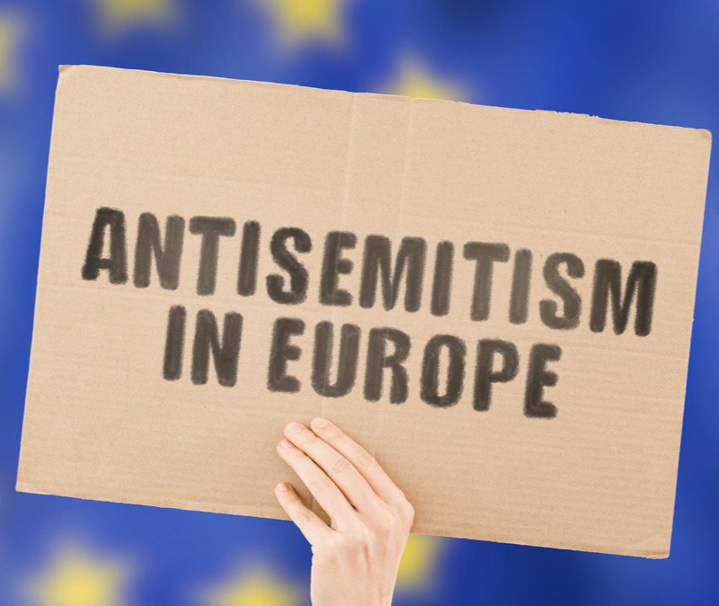 sign: antisemitism in europe