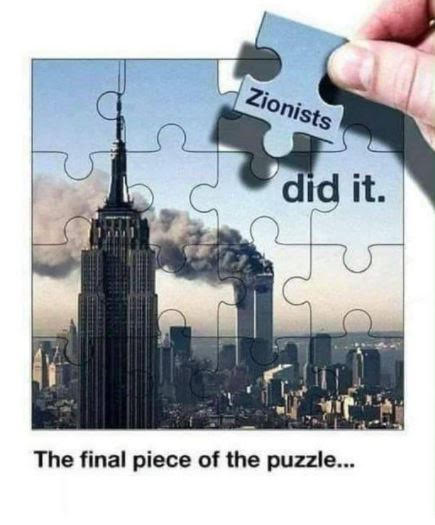 McKinney meme Zionists did it puzzle piece tweet