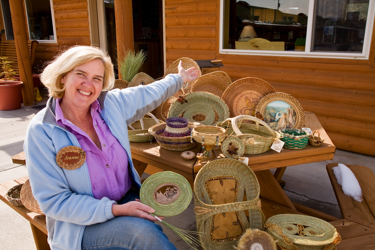 Pine Needle Baskets and Jeanne