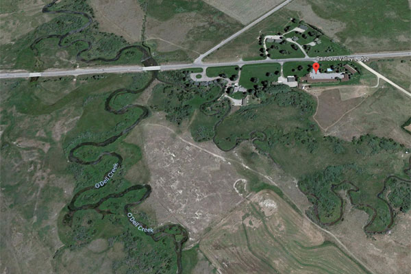 O'Dell Spring Creek In Ennis Montana - Map