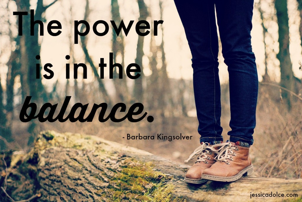 power is in balance quote