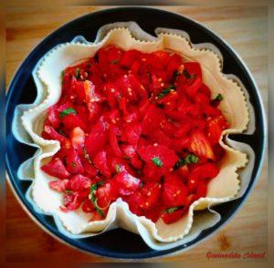 Quiche con pomodori freschi_preparazione