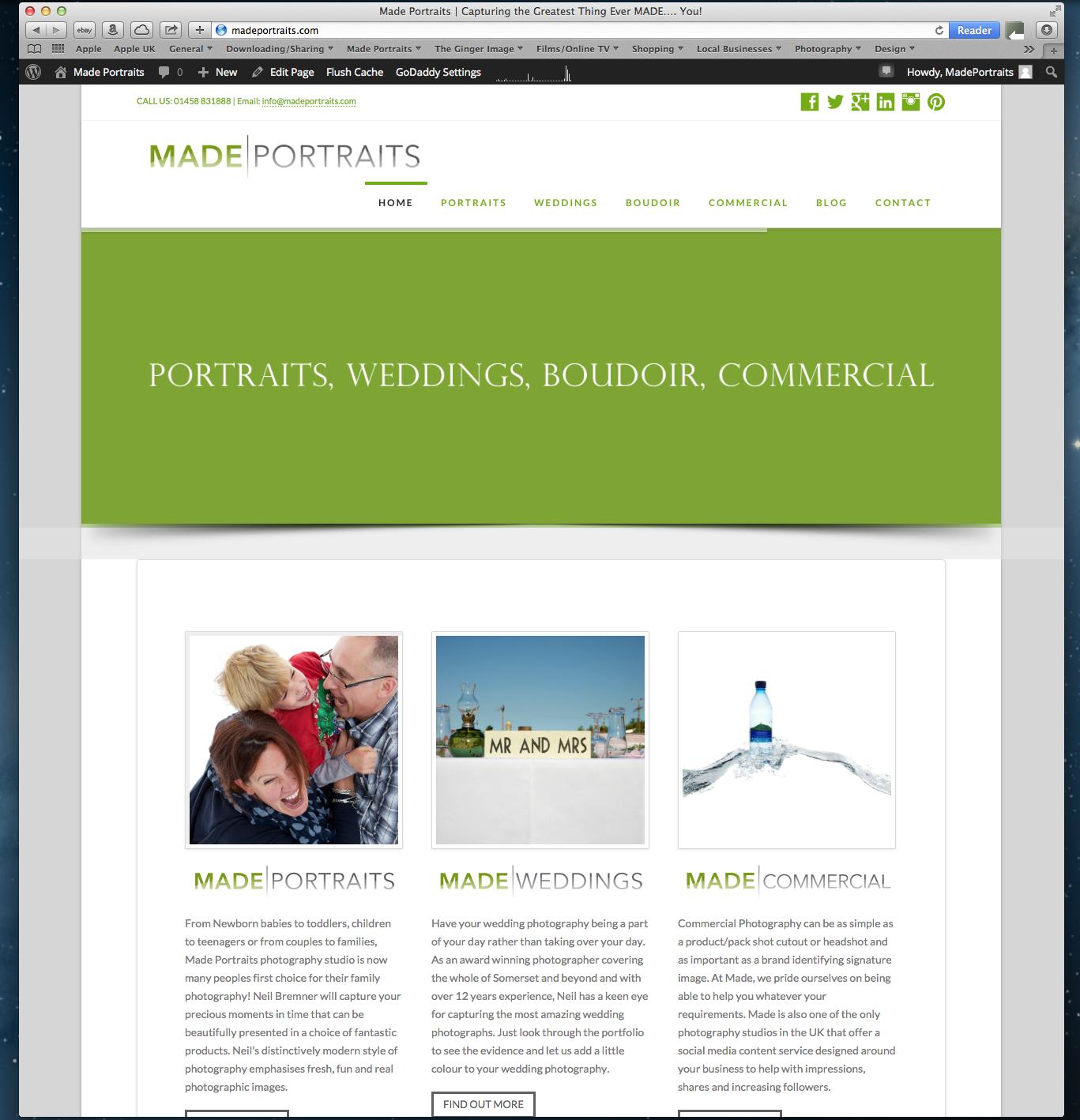 Made Portraits Website