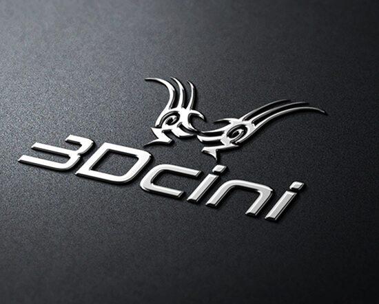 3d cini logo design