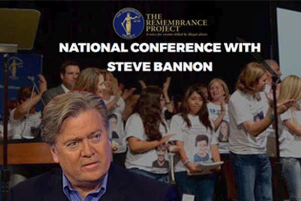 STEVE BANNON TO DELIVER KEYNOTE ADDRESS AT THE REMEMBRANCE PROJECT'S LUNCHEON IN D.C.