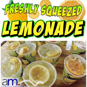 Fresh-Squeezed-Lemonade, Watch us make your lemonade: fresh squeezed lemon juice, simple syrup are the base for the freshest glass of lemonade you will ever taste.