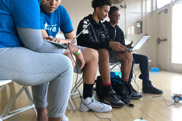 Interactive workshops designed to expose youth to tech at the intersection of health and sports.