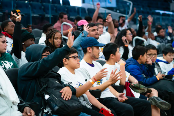 Over 120 youth participated in an interactive clinic that focuses on basketball and sports analytics.