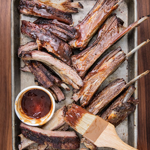 Barbecued Venison And Wild Boar Ribs