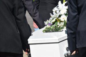 death, funeral, coffin