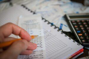 money, bills, calculator
