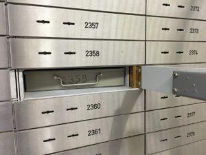 safe, bank, safe deposit box