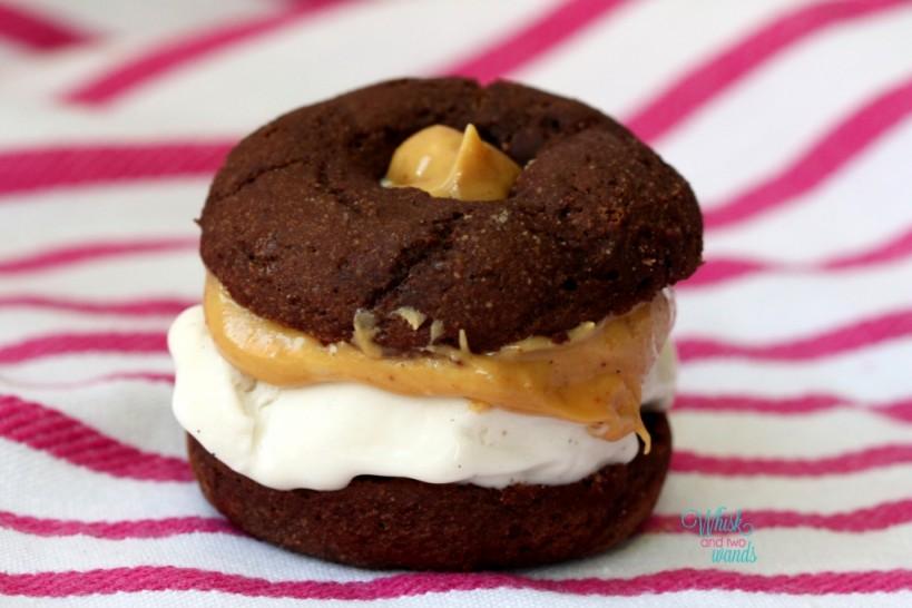 Mini Donut Ice Cream Sandwich So Delicious Vanilla Bean Coconut Milk Ice Cream & Peanut Butter & Co White Chocolate Wonder Peanut Butter